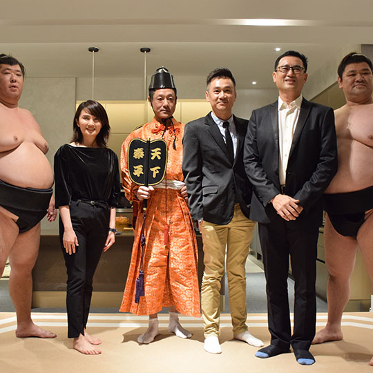 Trinity Pentamont Property Launch with Sumo Wrestlers